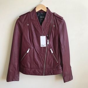 NWT Zadig & Voltaire Loon Blume Leather Jacket XS